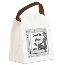 Don't be afraid to play with curv Canvas Lunch Bag
