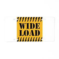WIDE LOAD Aluminum License Plate