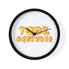 100% Adorable Wall Clock