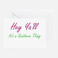 Hey Ya'll 1 Greeting Cards (Pk of 10)