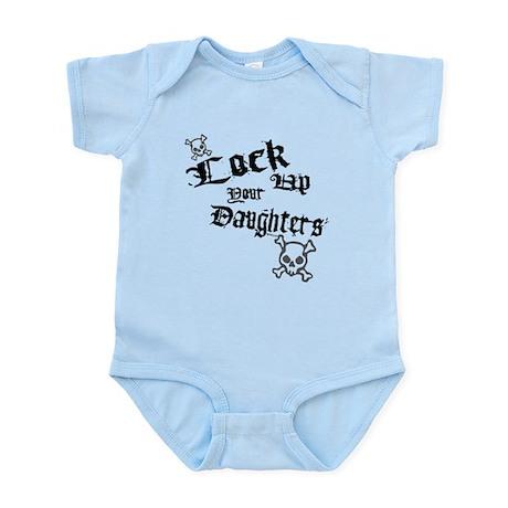 Lock Up Daughters Kids Infant Bodysuit