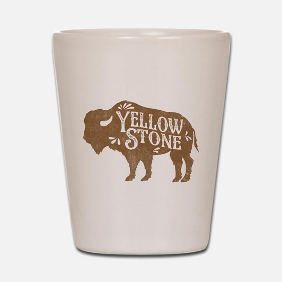 Yellowstone Buffalo Shot Glass
