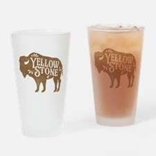 Yellowstone Buffalo Drinking Glass