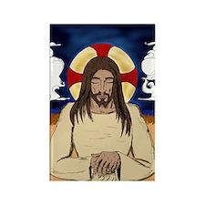 Meditating Jesus Magnet Magnets