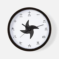 Japanese Shuriken Wall Clock