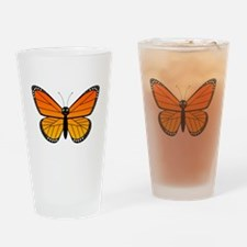 Monarch Butterfly Drinking Glass