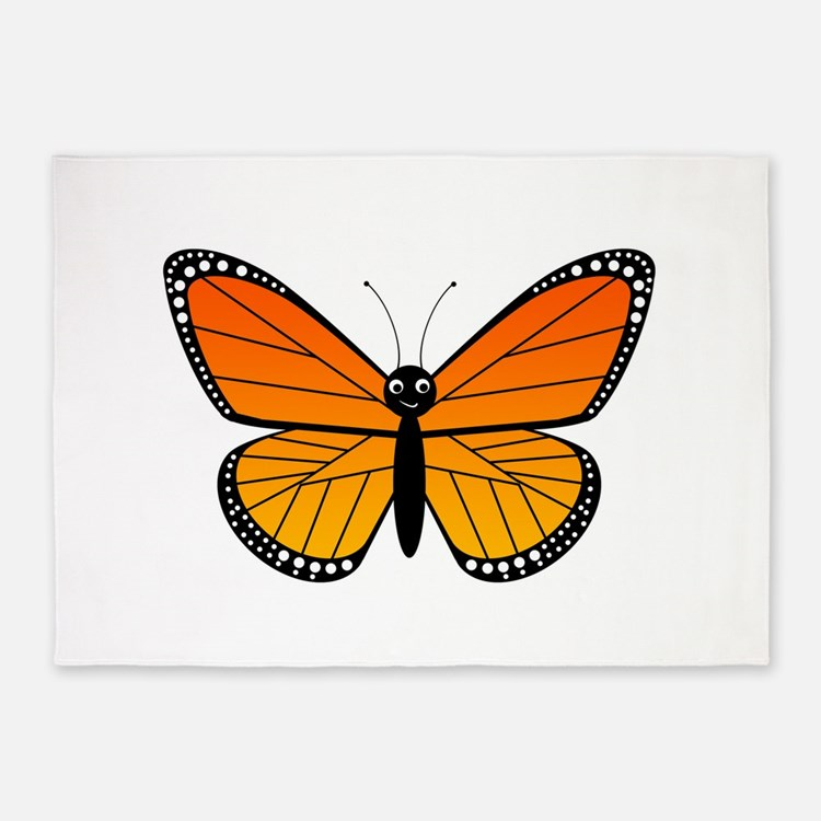 Monarch Butterfly 5'x7'Area Rug