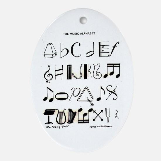 Cute Buckeye Oval Ornament