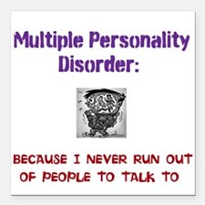 "people to talk to Square Car Magnet 3"" x 3"""