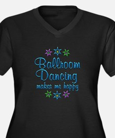Ballroom Hap Women's Plus Size V-Neck Dark T-Shirt