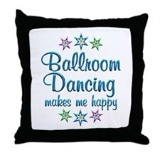 Ballroom Happy Throw Pillow