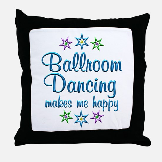 Ballroom Happy Throw Pillow