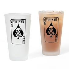 VIETNAM DEATH CARD Drinking Glass