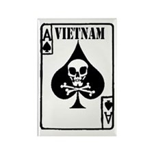 VIETNAM DEATH CARD Magnets