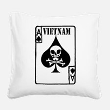 VIETNAM DEATH CARD Square Canvas Pillow