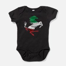 Italian Stallion Italy Flag Baby Bodysuit