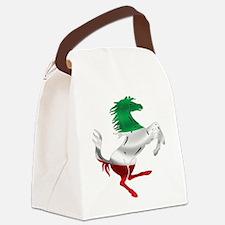 Italian Stallion Italy Flag Canvas Lunch Bag