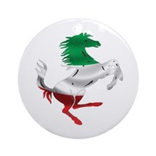 Italian Stallion Italy Flag Ornament (Round)