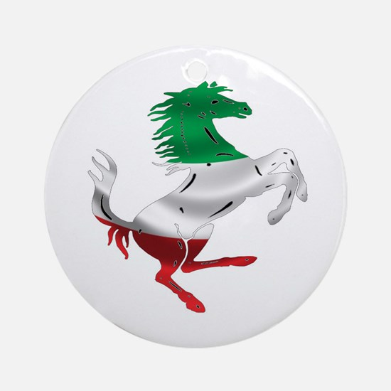 Italian Stallion Italy Flag Ornament (Round)