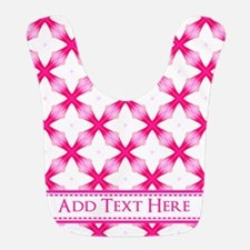 Bright Pink Elegant Pattern Personalized Bib