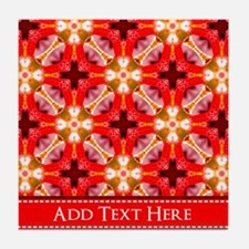 Personalized Pattern Background Tile Coaster