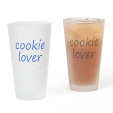 cookie lover blue Drinking Glass