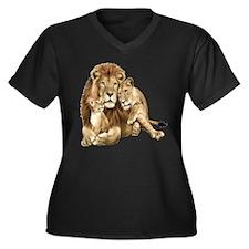 Lion And Cubs Plus Size T-Shirt