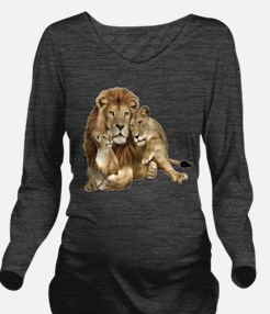 Lion And Cubs Long Sleeve Maternity T-Shirt
