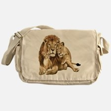 Lion And Cubs Messenger Bag