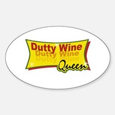 Dutty wine Oval Decal