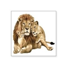 Lion And Cubs Sticker