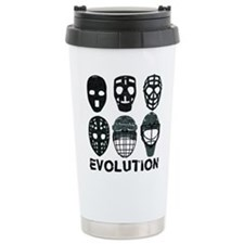 Hockey Goalie Mask Evolution Travel Mug