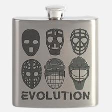 Hockey Goalie Mask Evolution Flask