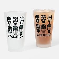 Hockey Goalie Mask Evolution Drinking Glass