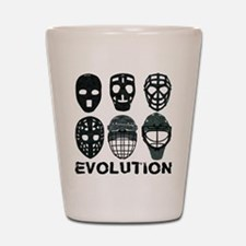 Hockey Goalie Mask Evolution Shot Glass