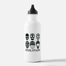 Hockey Goalie Mask Evolution Water Bottle