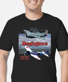 Dogfighters: F4F vs A6 Men's Fitted T-Shirt (dark)