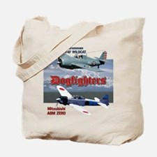 Dogfighters: F4F vs A6M Tote Bag
