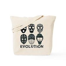 Hockey Goalie Mask Evolution Tote Bag