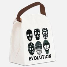 Hockey Goalie Mask Evolution Canvas Lunch Bag