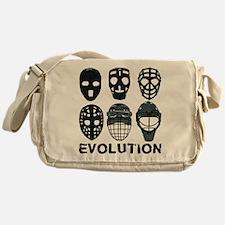 Hockey Goalie Mask Evolution Messenger Bag