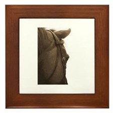 Funny Neglected horses Framed Tile