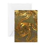 Faberge's Jewels - Yellow Greeting Card