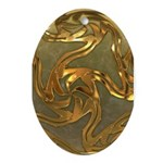 Faberge's Jewels - Yellow Ornament (Oval)