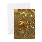 Faberge's Jewels - Yellow Greeting Cards (Pk of 10