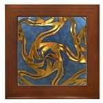 Faberge's Jewels - Blue Framed Tile