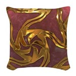 Faberge's Jewels -Red Woven Throw Pillow