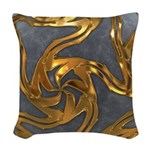 Faberge's Jewels - Grey Woven Throw Pillow