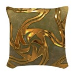 Faberge's Jewels - Yellow Woven Throw Pillow