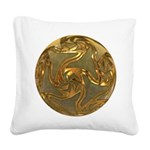 Faberge's Jewels - Yellow Square Canvas Pillow